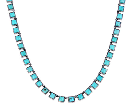 3.5mm Turquoise Riviere Tile Necklace