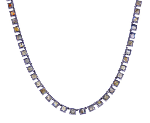 Small Labradorite Riviere Tile Necklace