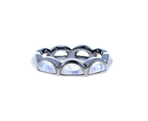 Rainbow Moonstone Scallop Ring - TWISTonline