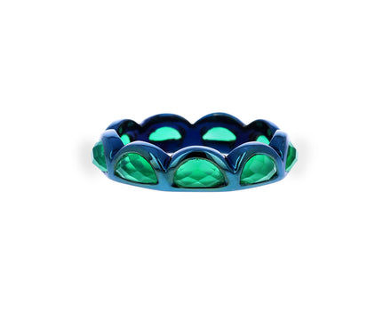 Green Onyx Scallop Band