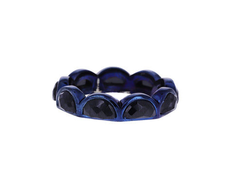 Black Spinel Scallop Band