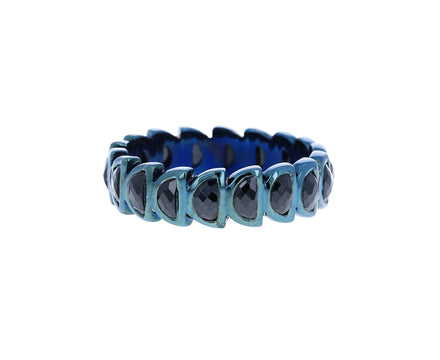 Black Spinel Worm Band