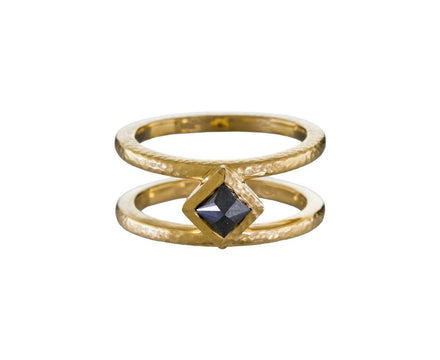 Black Diamond Pyramid Cage Ring - TWISTonline