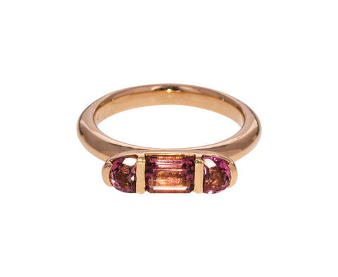 Pink Tourmaline Seed Ring - TWISTonline