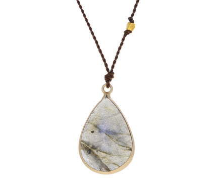 Pear Shaped Labradorite Pendant Necklace