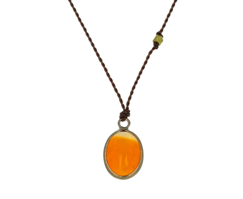Fire Opal Pendant Necklace - TWISTonline