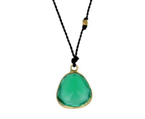 Green Onyx Pendant Necklace - TWISTonline