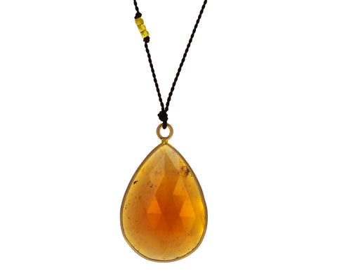 Hessonite Garnet Pendant Necklace