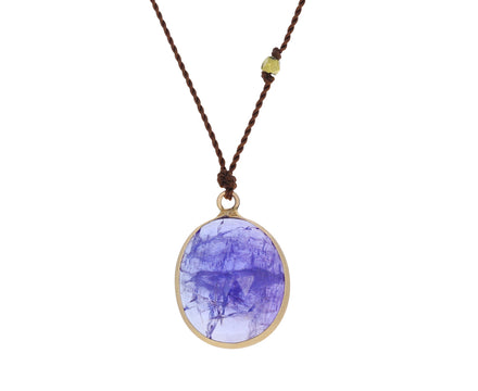 Oval Tanzanite Pendant Necklace