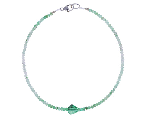 Aventurine and Emerald Beaded Bracelet