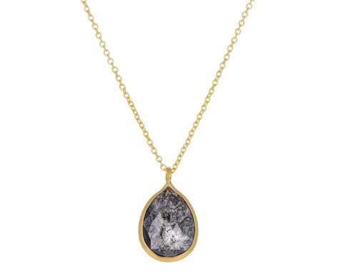 Dark Gray Rustic Diamond Necklace