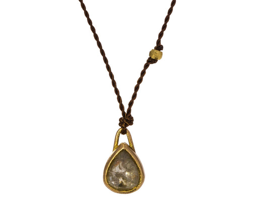 Pear Shaped Rustic Diamond Necklace