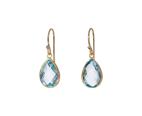 Teardrop Blue Topaz Earrings - TWISTonline