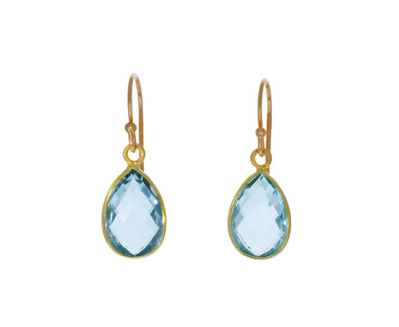 Blue Topaz Dangle Earrings - TWISTonline