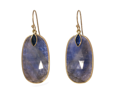 Blue Sapphire and Kyanite Earrings