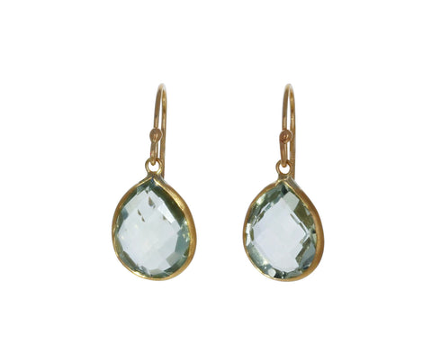 Prasiolite Drop Earrings