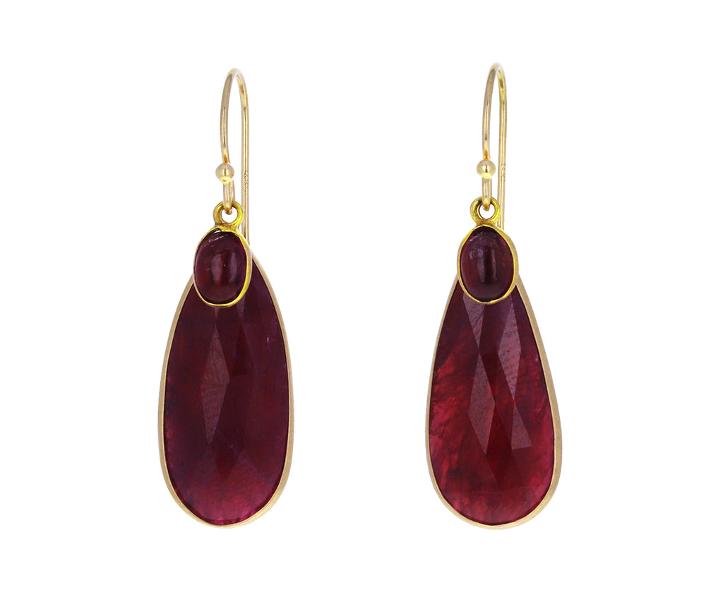 Ruby and Garnet Earrings