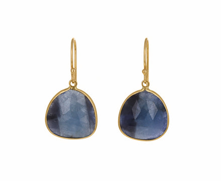 Asymmetrical Blue Sapphire Earrings