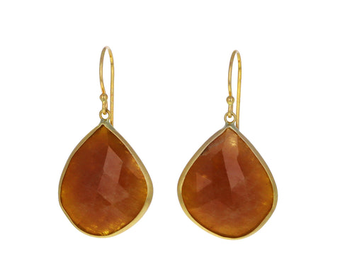 Natural Yellow Sapphire Dangle Earrings