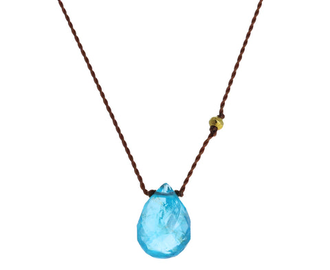 Tear Drop Apatite Pendant Necklace