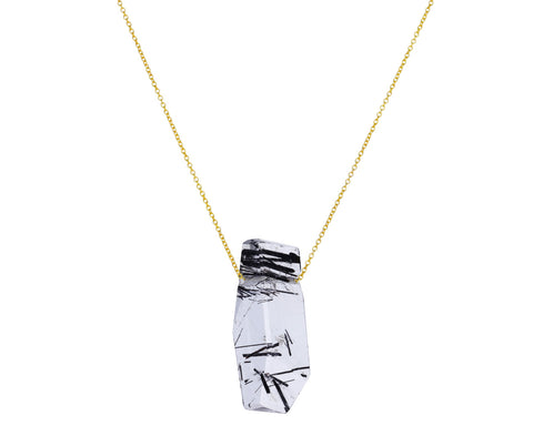 Tourmilated Quartz Pendant Necklace
