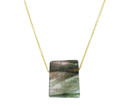 Moss Green Tourmaline Necklace