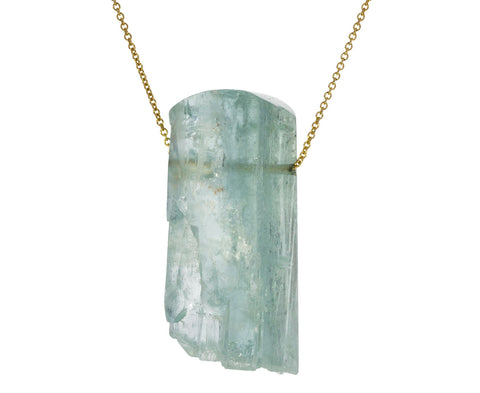 Rough Cut Aquamarine Necklace