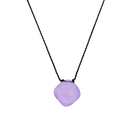 Purple Chalcedony Pendant Necklace