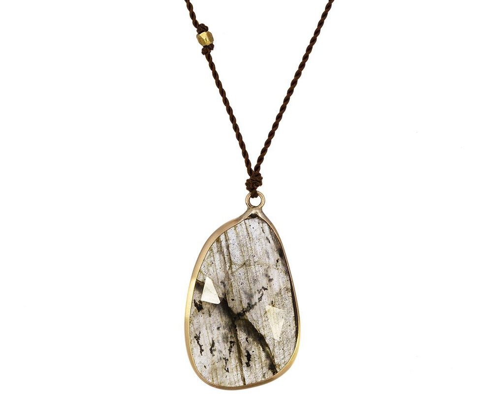 Labradorite Slice Necklace - TWISTonline