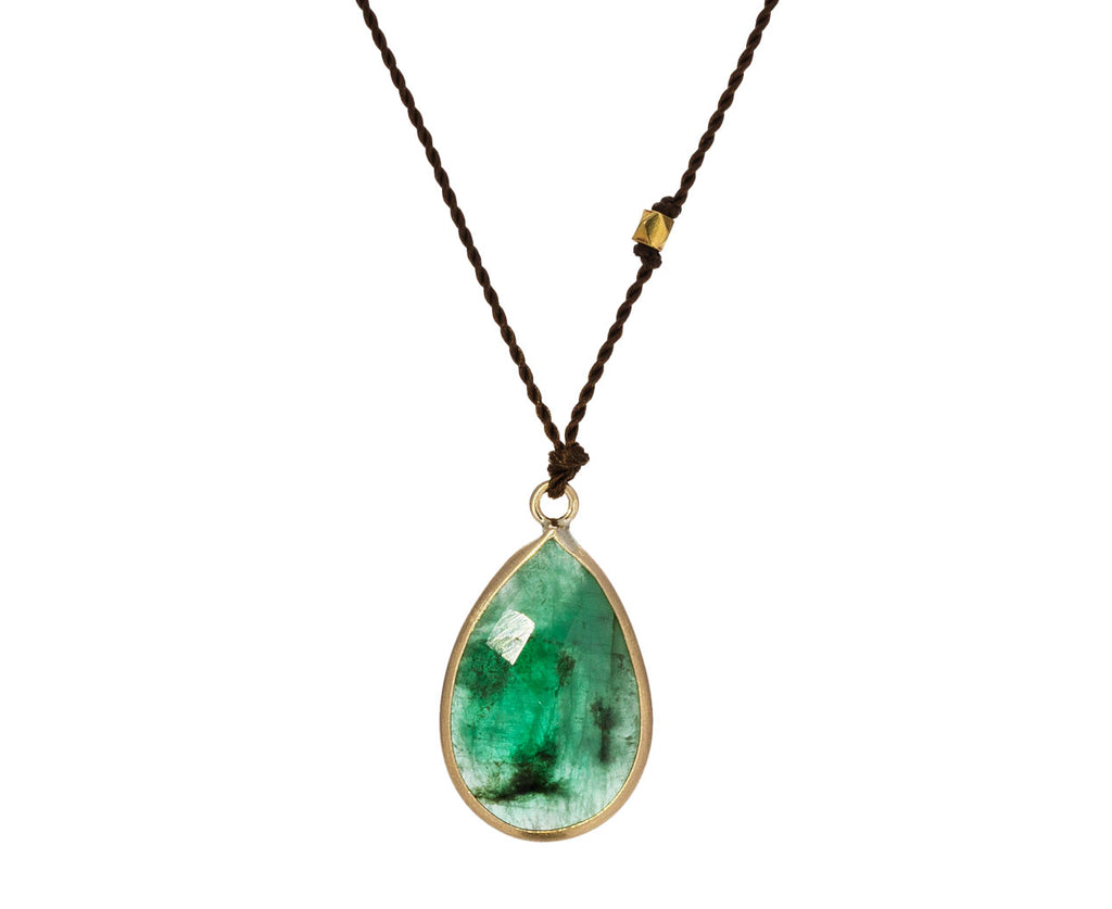 Emerald Teardrop Necklace