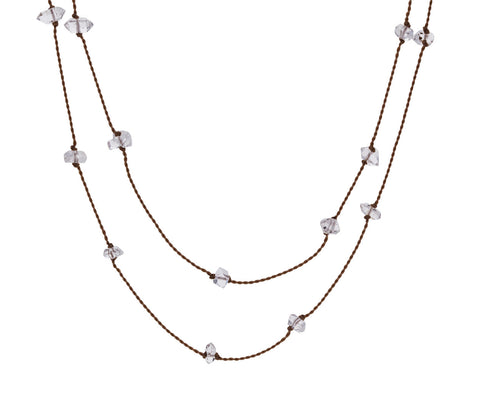 Floating Herkimer Quartz Necklace - TWISTonline
