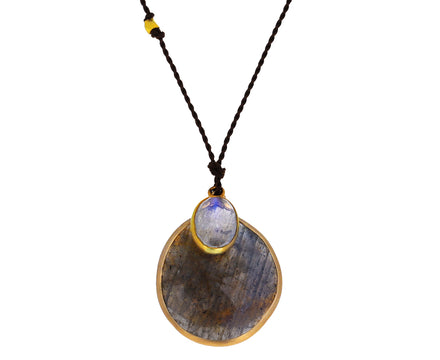 Labradorite and Moonstone Pendant Necklace