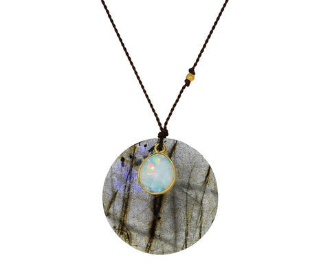 Labradorite and Opal Necklace