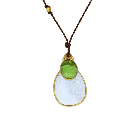 Aquamarine and Chrome Diopside Necklace - TWISTonline