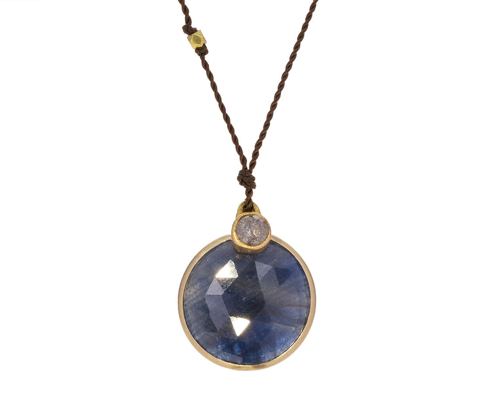 Blue Sapphire and Gray Diamond Necklace - TWISTonline