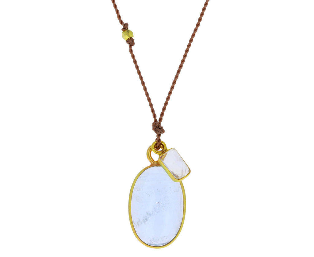 Aquamarine and Moonstone Necklace