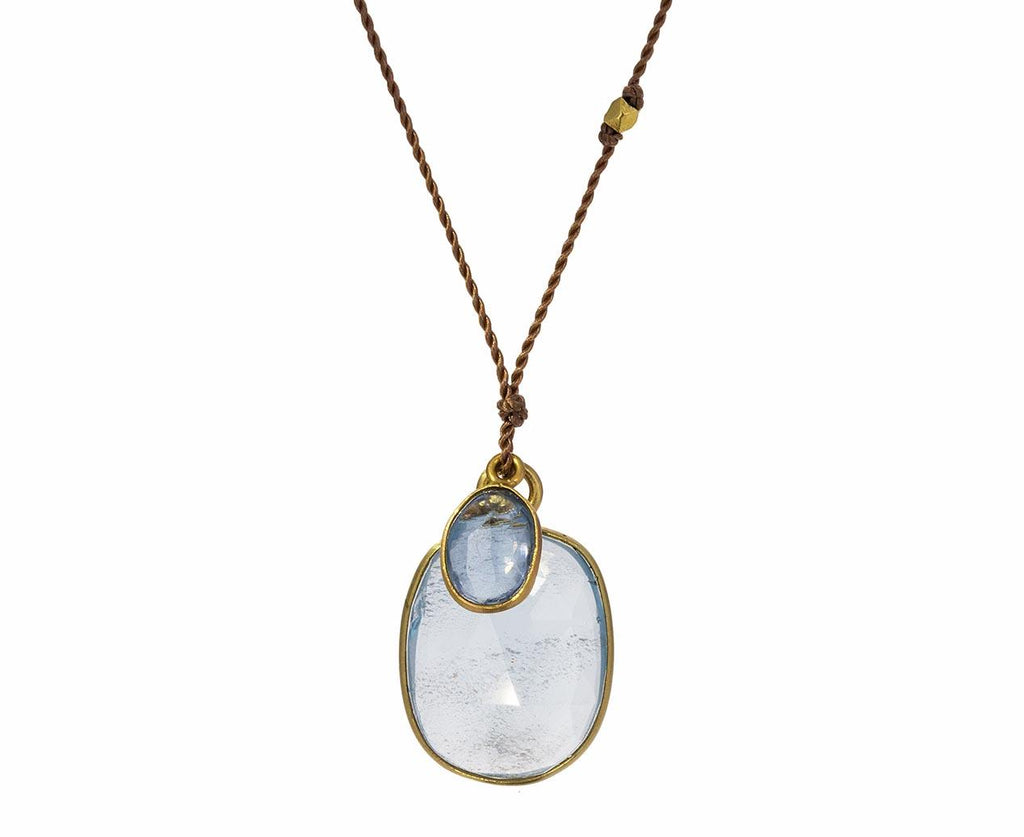 Aquamarine and Pale Blue Sapphire Necklace - TWISTonline