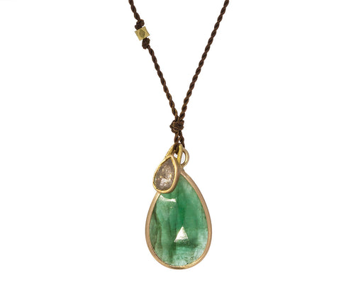 Emerald and Gray Diamond Necklace - TWISTonline