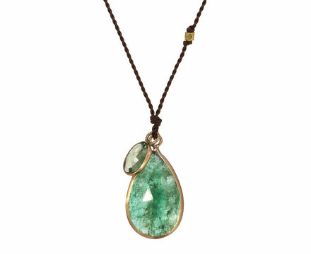Emerald and Sapphire Necklace - TWISTonline