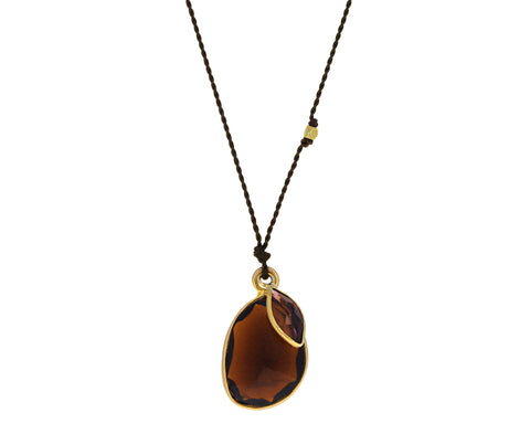 Double Garnet Pendant Necklace