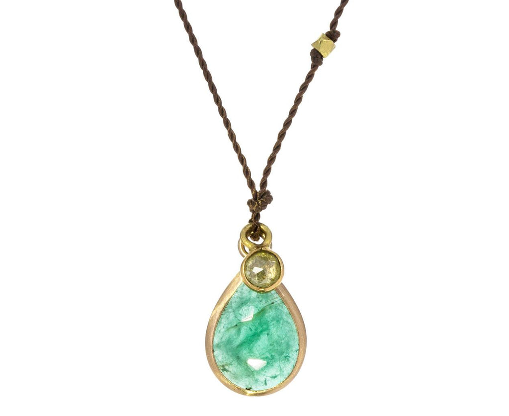Emerald and Natural Diamond Necklace zoom 1_margaret_solow_gold_emerald_diamond_necklace