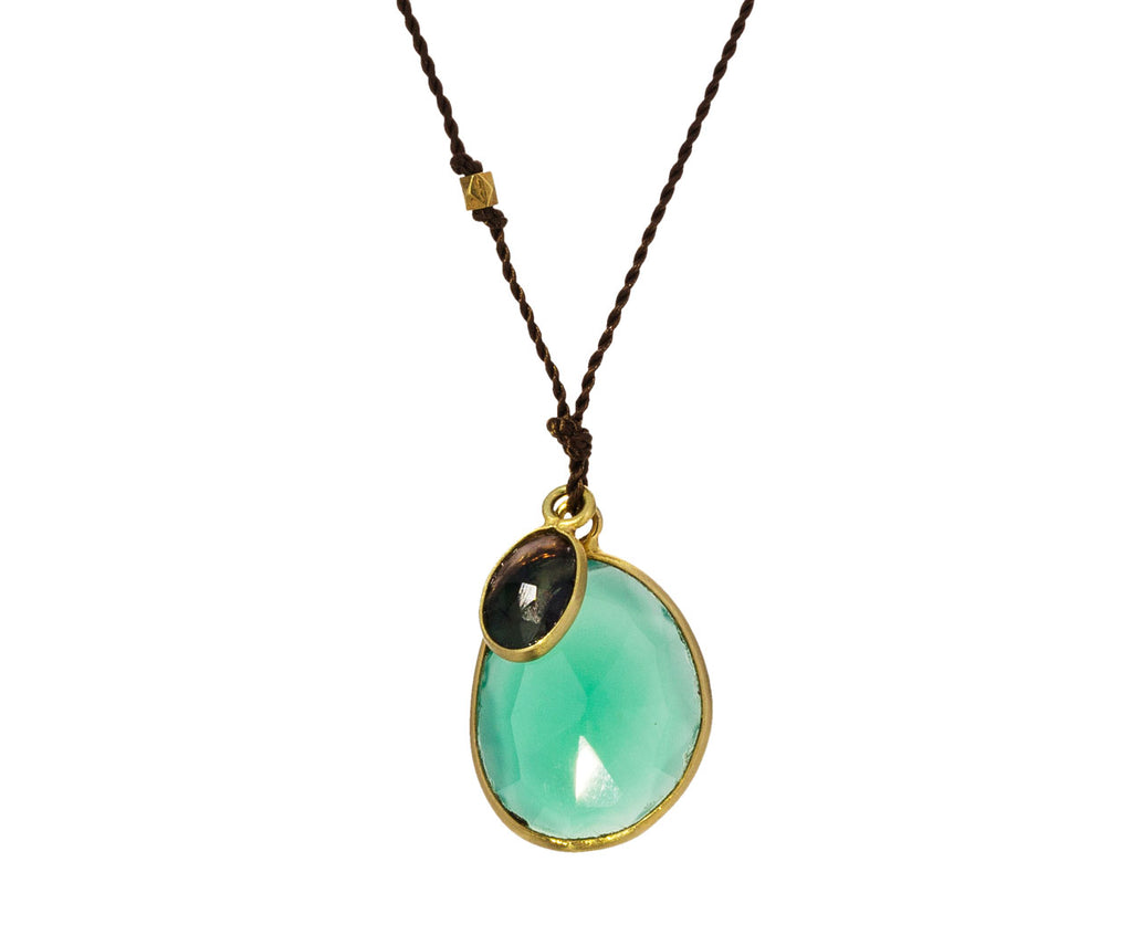 Green Onyx and Black Opal Necklace