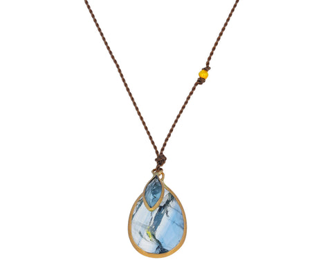 Kyanite and Blue Topaz Pendant Necklace