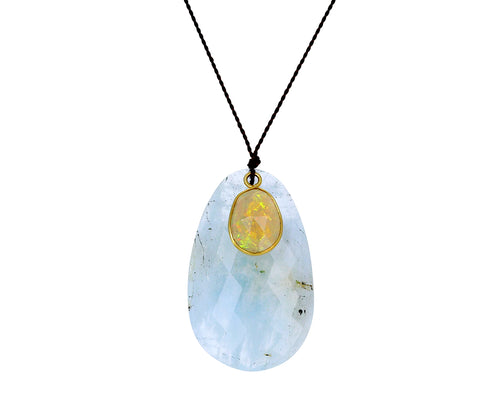 Aquamarine and Opal Necklace - TWISTonline