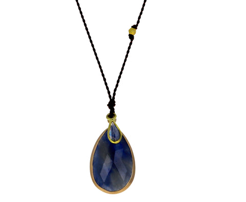 Blue Sapphire and Diamond Pendant Necklace