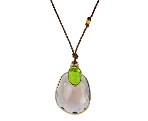 Smoky Quartz and Chrome Diopside Necklace