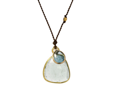 Pale Blue Green Tourmaline and London Blue Topaz Necklace - TWISTonline