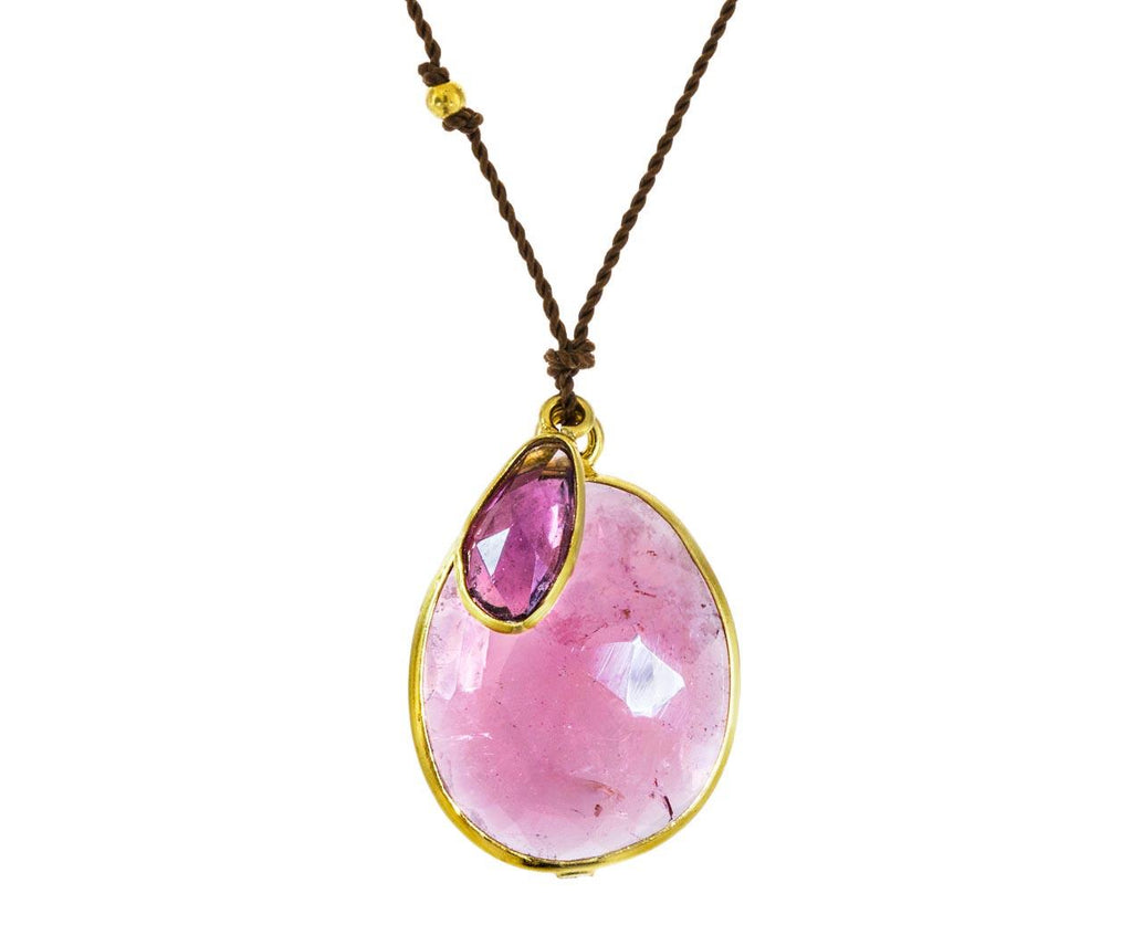 Pink Tourmaline and Pink Sapphire Pendant Necklace zoom 1_margaret_solow_gold_tourmaline_sapphire_necklace