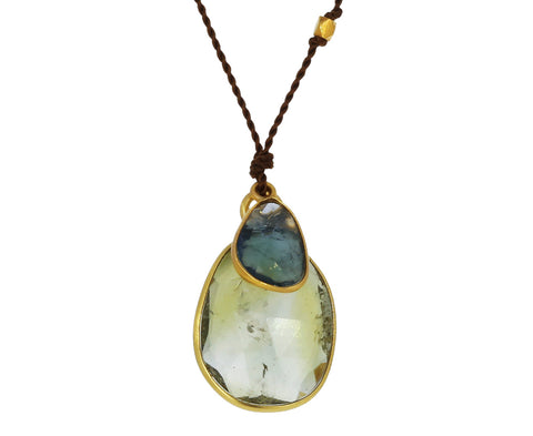Green Sapphire and Tanzanite Necklace - TWISTonline