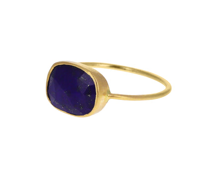 Rectangular Lapis Ring
